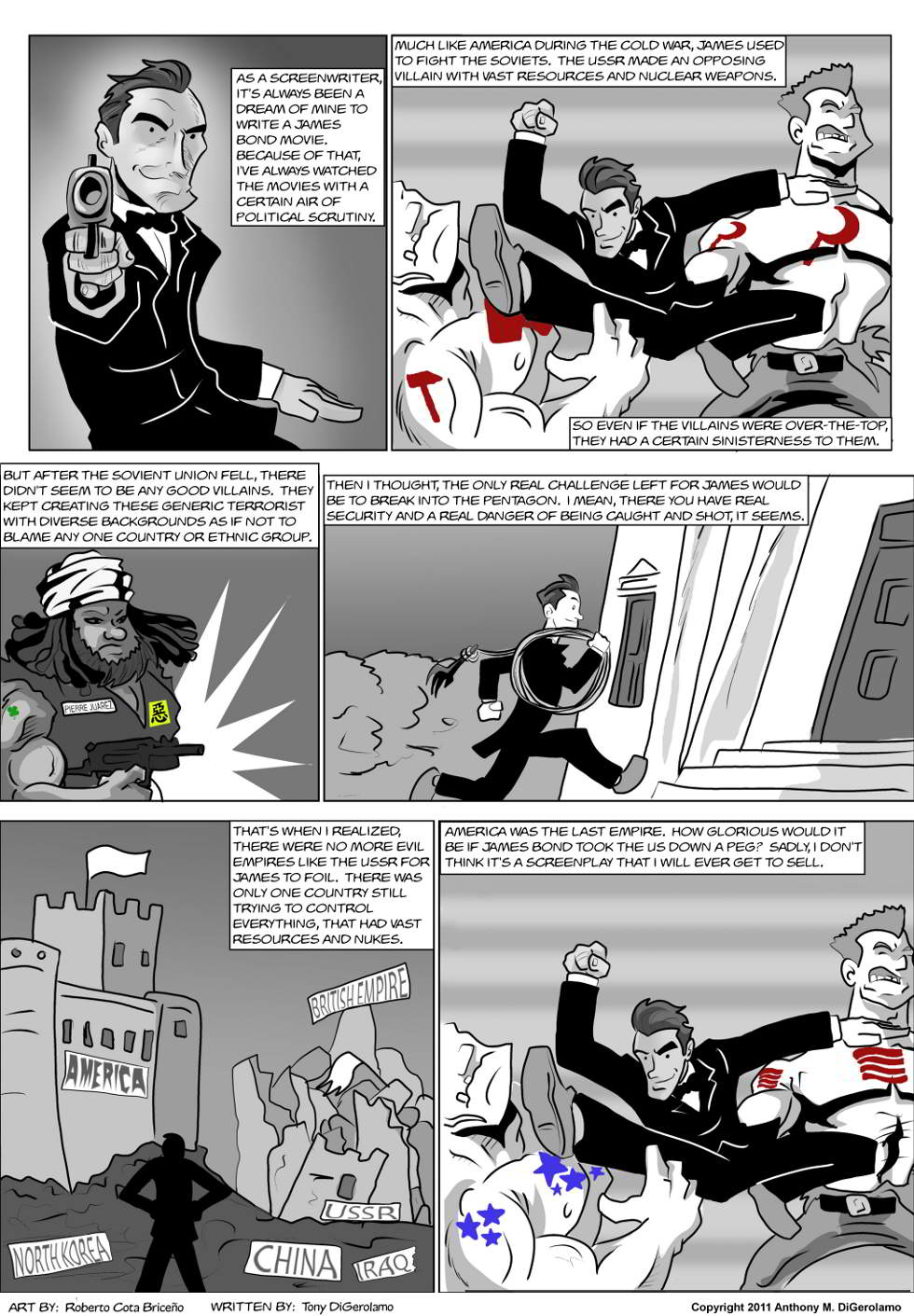 The Antiwar Comic:  If I Wrote James Bond