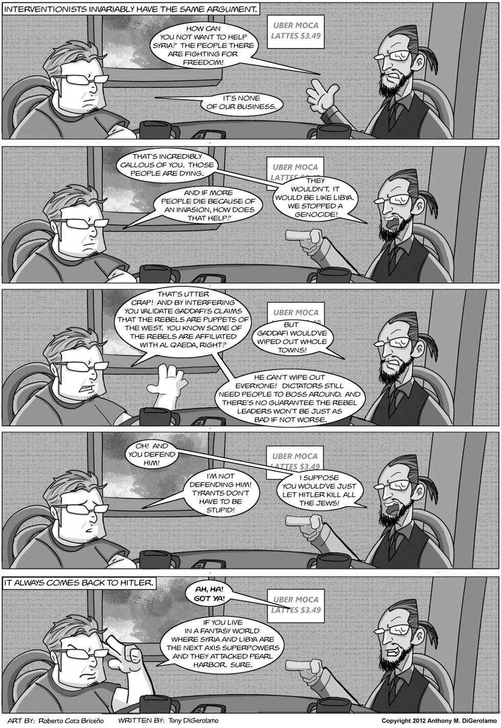 The Antiwar Comic:  The Interventionists&#8217; Argument
