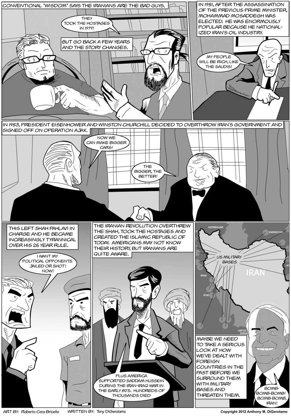 The Antiwar Comic:  What&#8217;s Wrong With Iran?