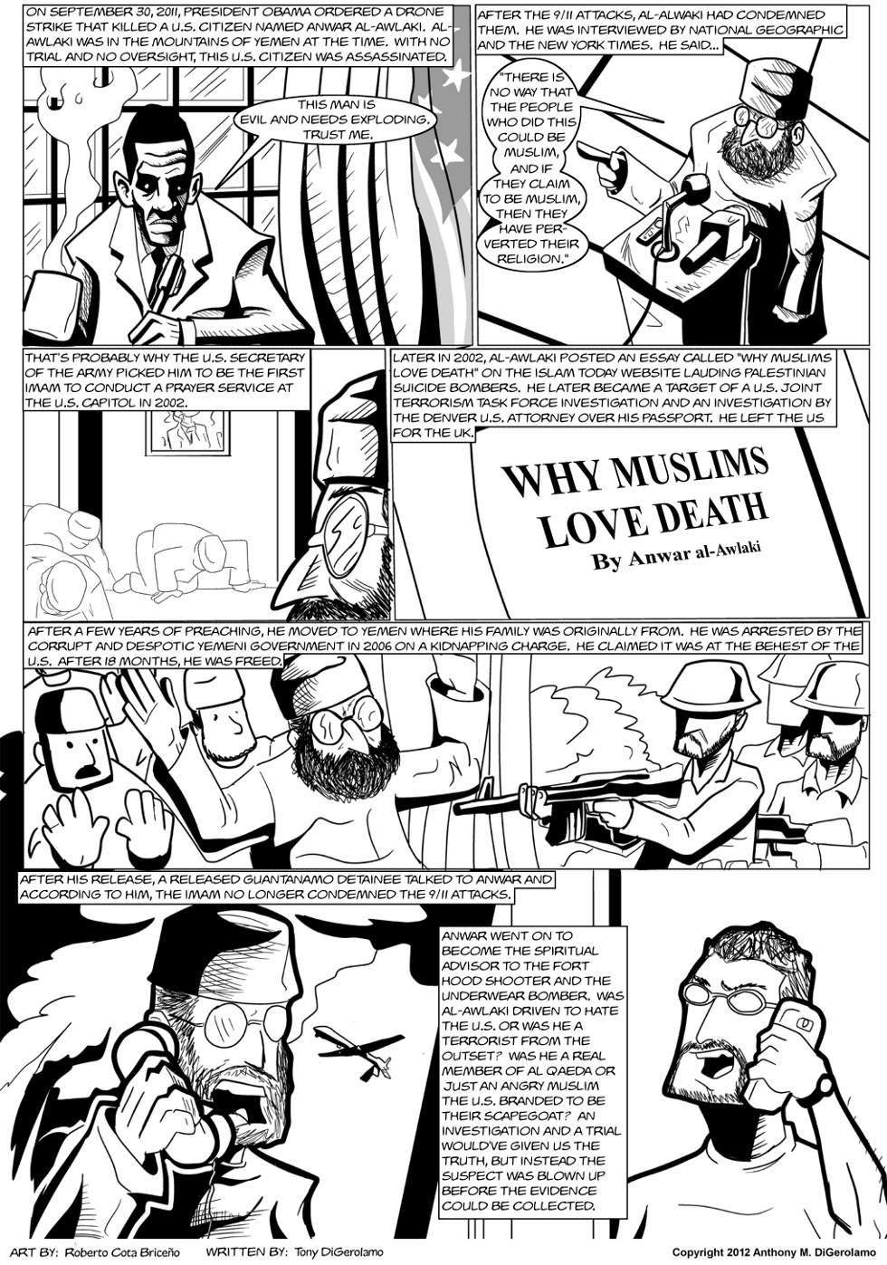 The Antiwar Comic:  The Capitol's Imam