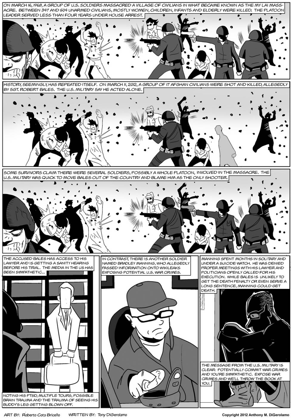 The Antiwar Comic:  Just Keep Shooting and Shut Up