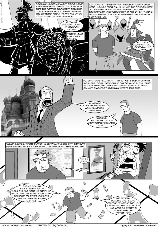 The Anti War Comic:  The Rain of the Dollars
