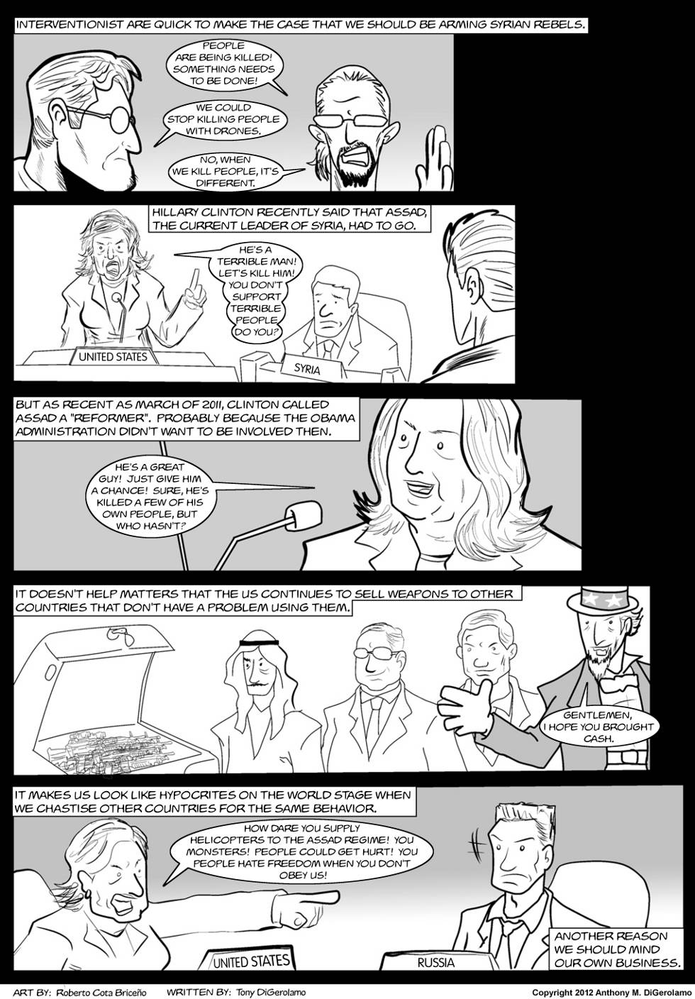 The Antiwar Comic:  Diplomatic Schizophrenia