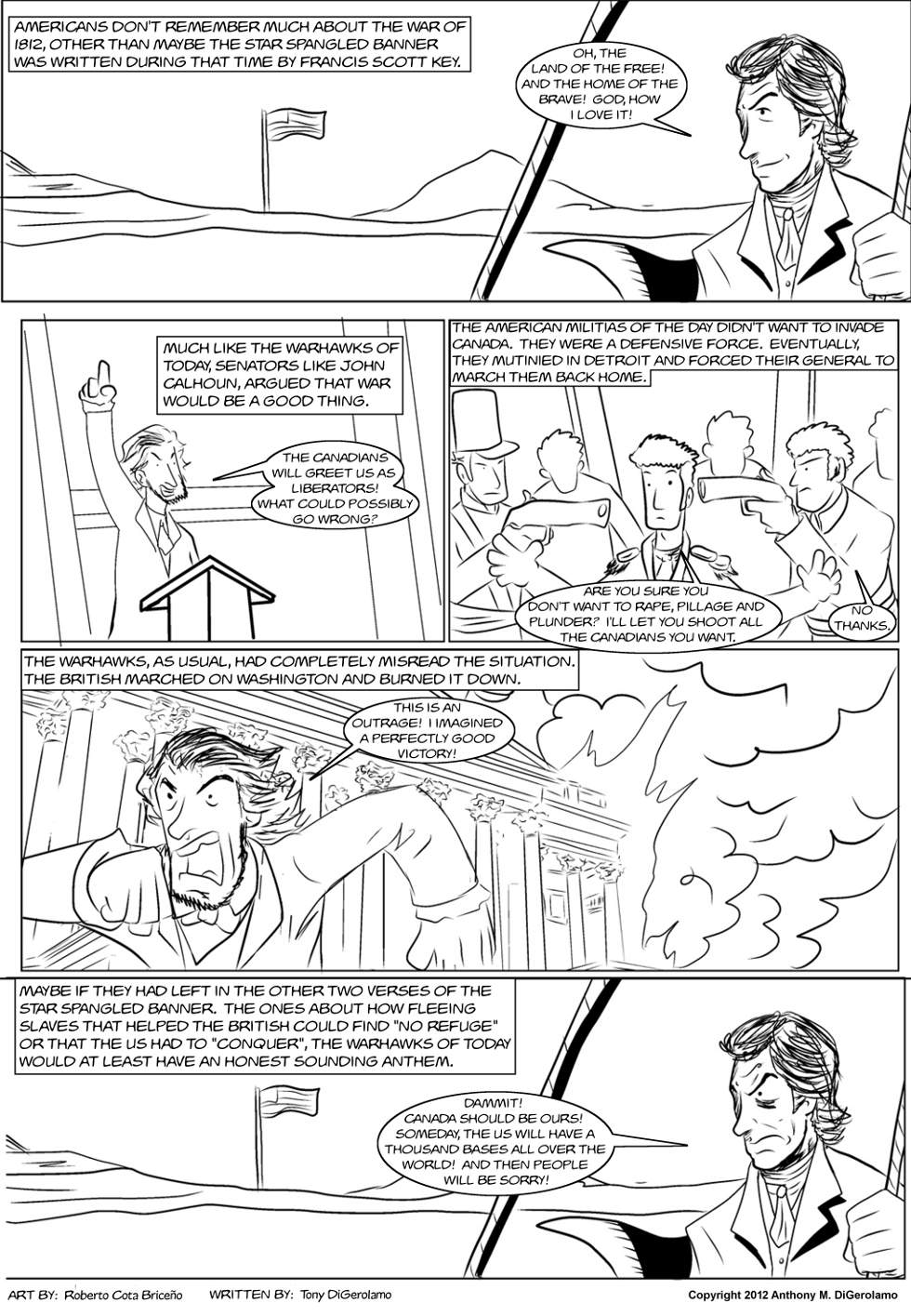 The Antiwar Comic:  The 1812 Overkill