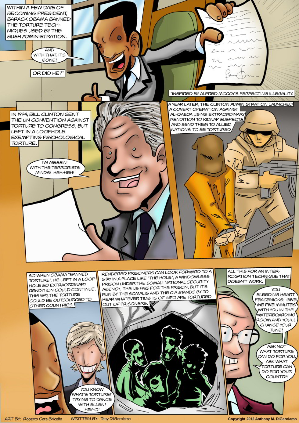 The Antiwar Comic:  Torture, the American Way