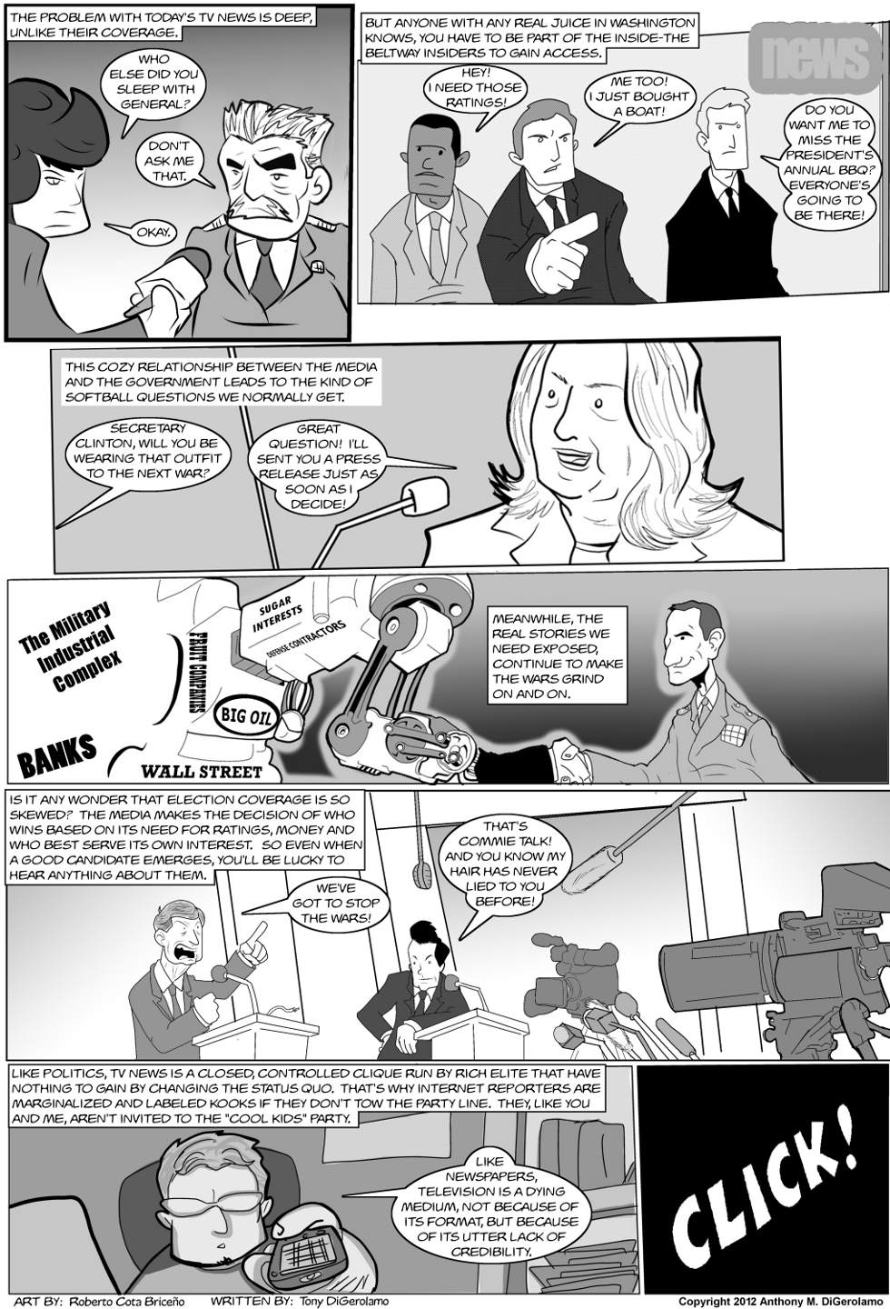 The Antiwar Comic:  Die Television, Die!