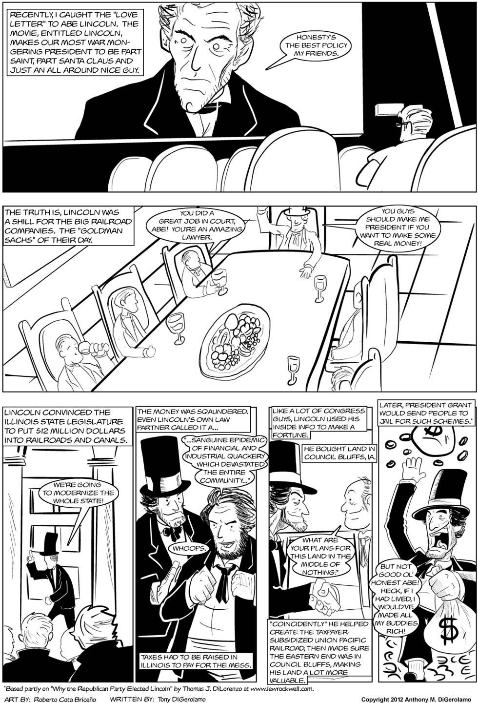 The Antiwar Comic:  Lincoln was a Rich Jerk