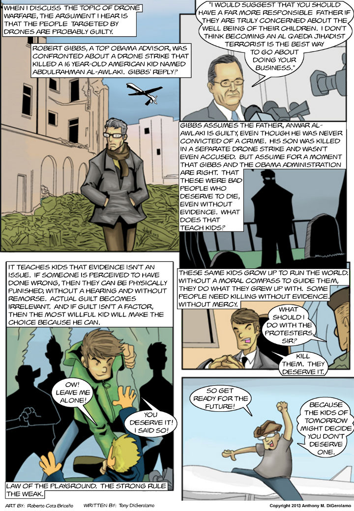 The Antiwar Comic:  Paging Dr. Strangedrone