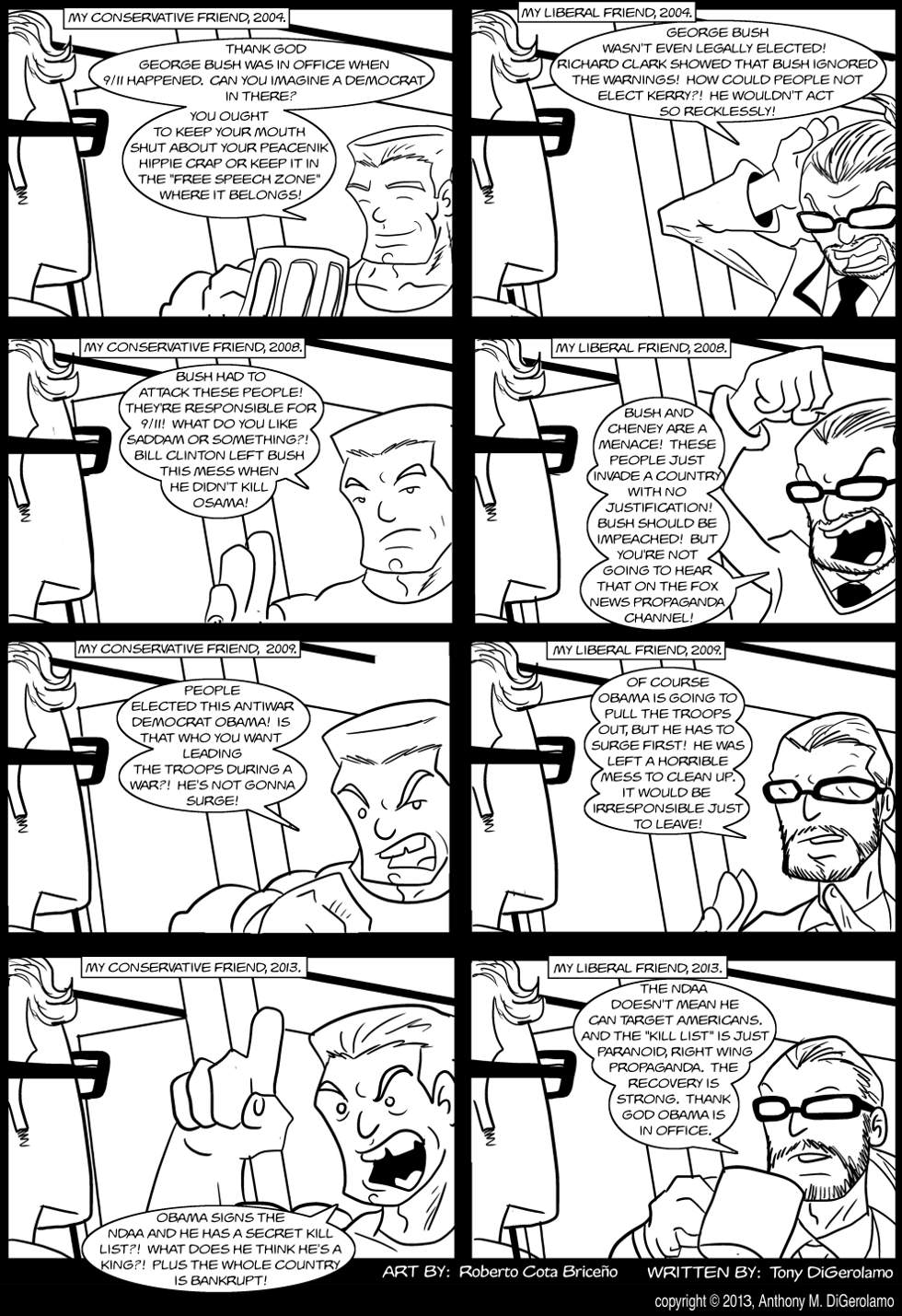 The Antiwar Comic:  Friends and Politics