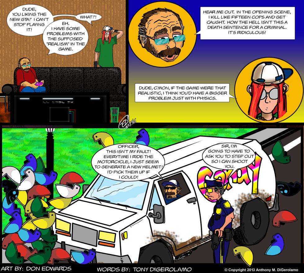 Olde Tyme Gamer:  The GTA Helmet Law