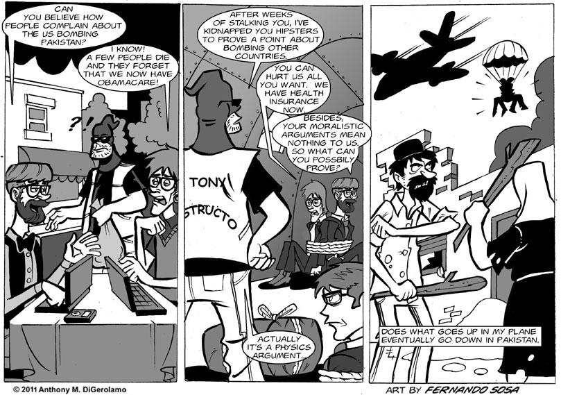Tony Destructo:  A Physics Argument