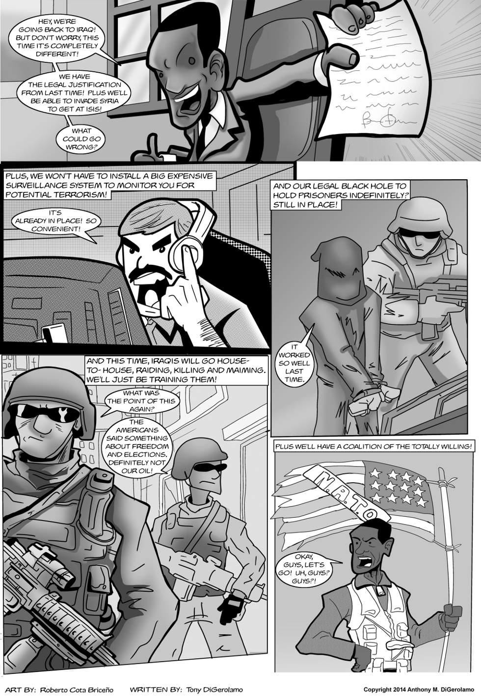 The Antiwar Comic:  Back in Iraq