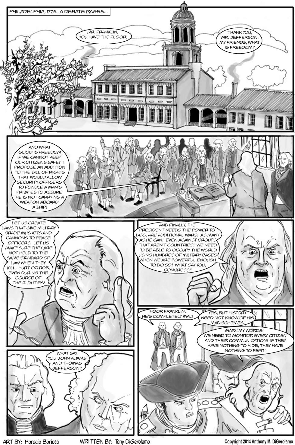 The Antiwar Comic:  Benjamin Neo Con