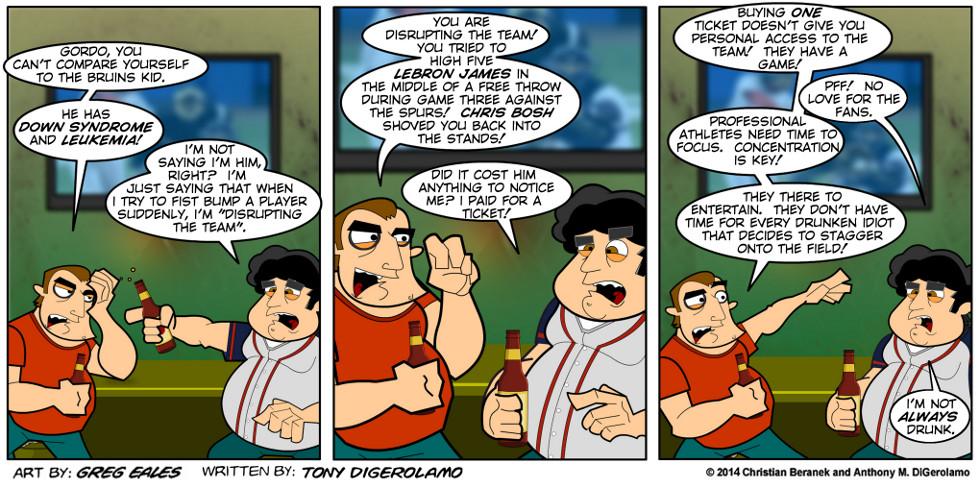 Sports Guys:  No Fan Love