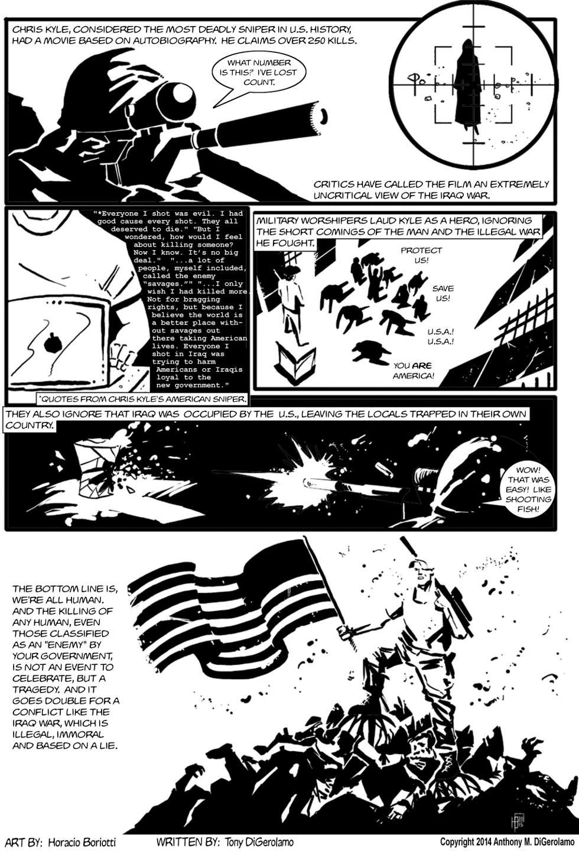 The Antiwar Comic:  The Sniper American