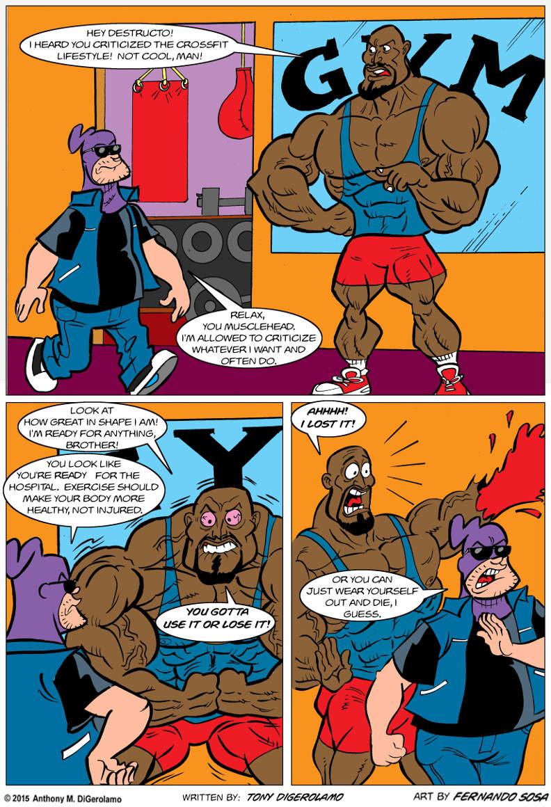Tony Destructo:  Crossfit Fits
