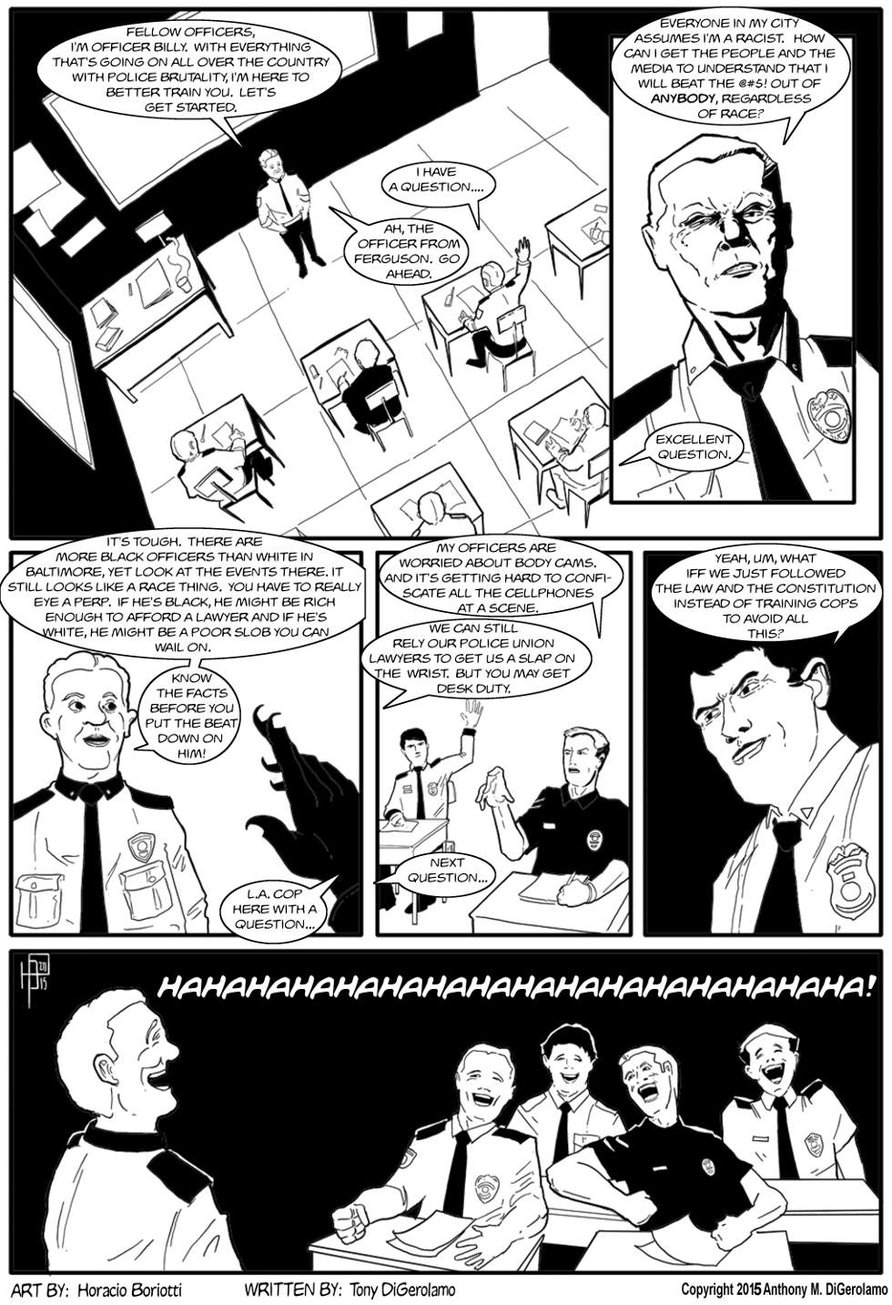 The Antiwar Comic:  Police Training