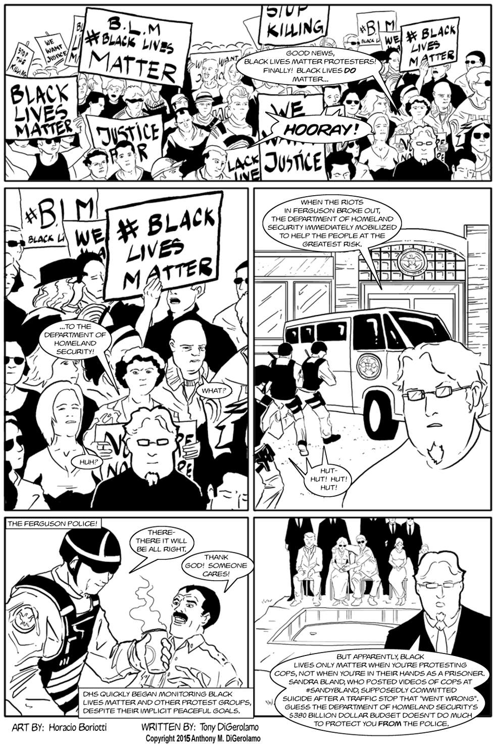The Antiwar Comic:  Black Lives Finally Matter
