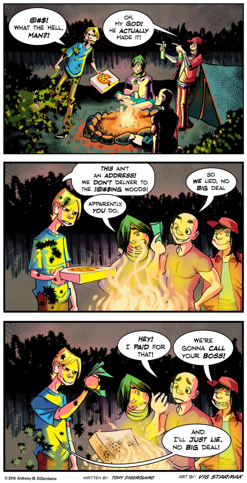 Tales of Pizza:  Campfire Pizza