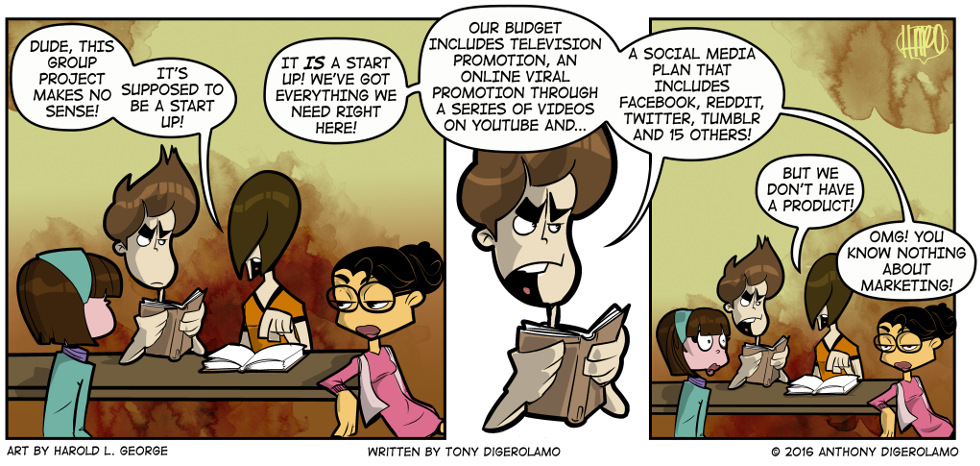 I Hate My Kids:  School Group Project