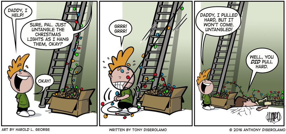 I Hate My Kids:  Christmas Lights Helper