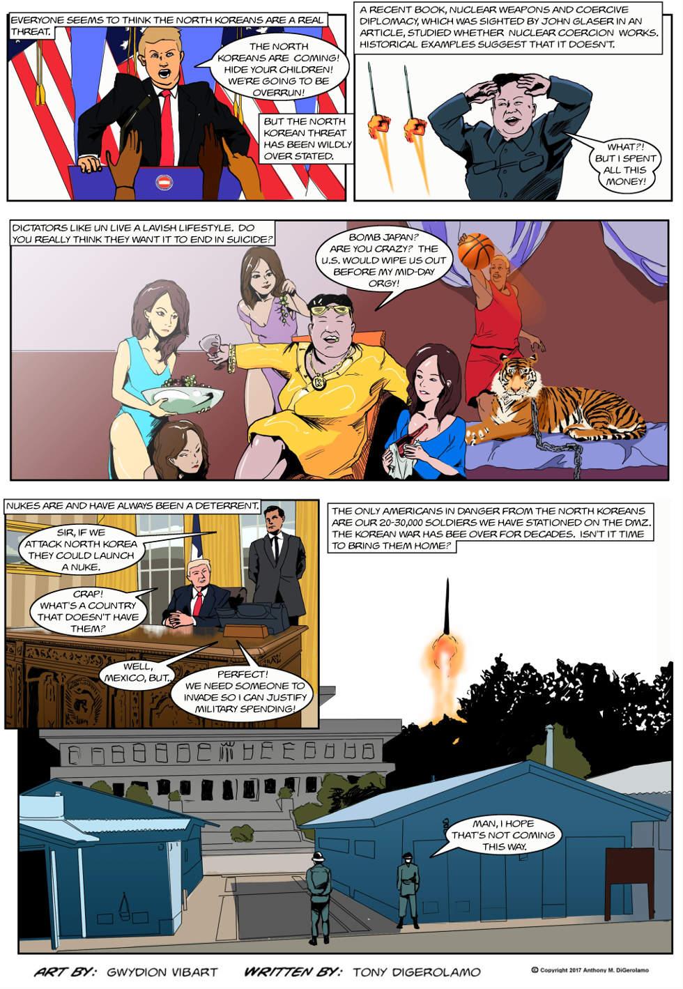 The Antiwar Comic:  North Korean Freak Out