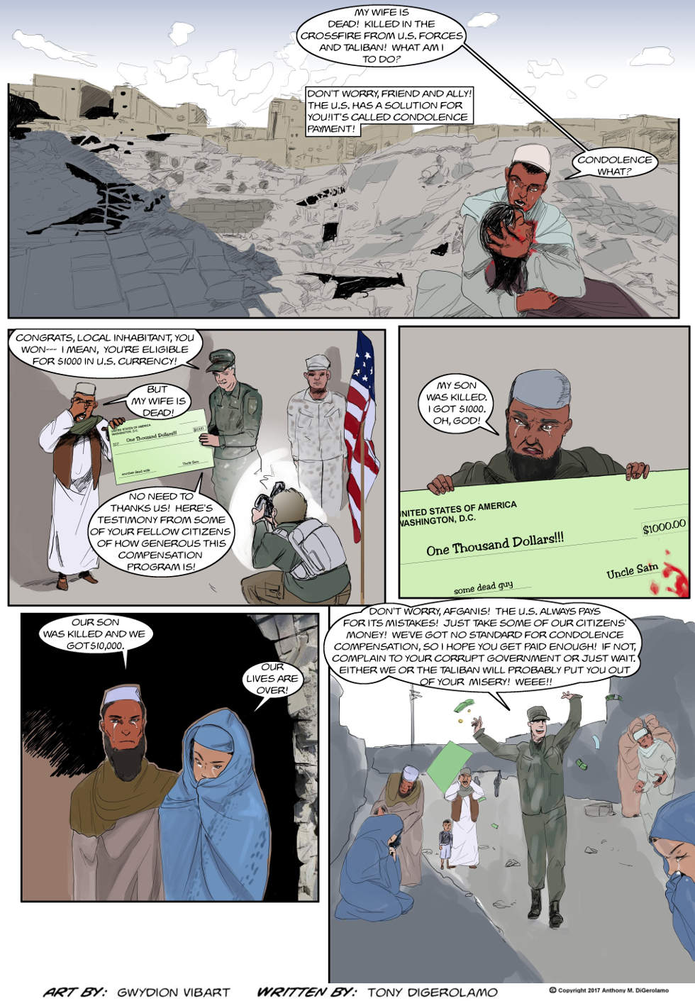 The Antiwar Comic:  Condolence Payment