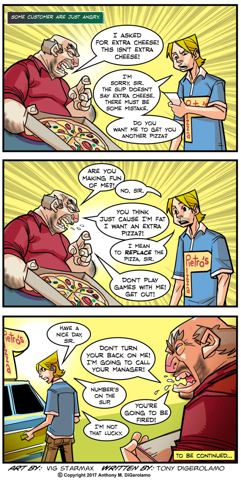 Tales of Pizza:  Angry Extra Cheese
