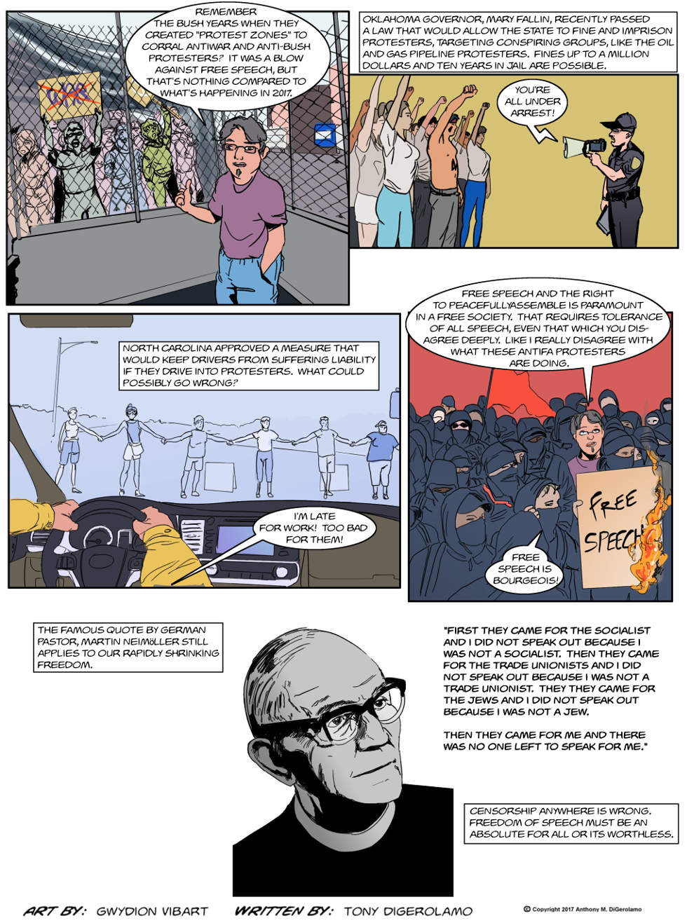 The Antiwar Comic:  They're Coming For Your Speech