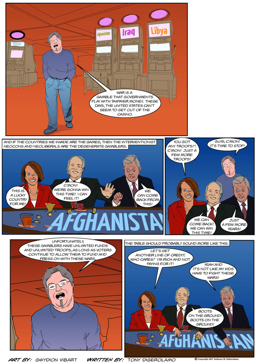The Antiwar Comic:  Degenerate Interventionists