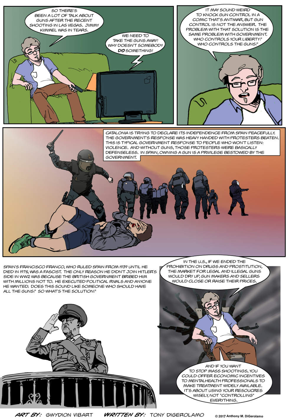 The Antiwar Comic:  Who Controls the Guns?
