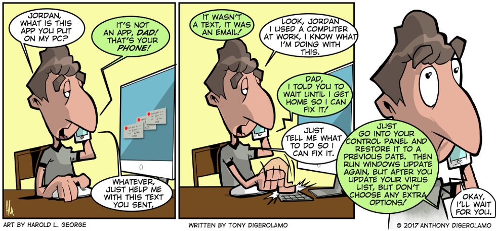 I Hate My Kids: No Patience for the Old Man – The Webcomic Factory