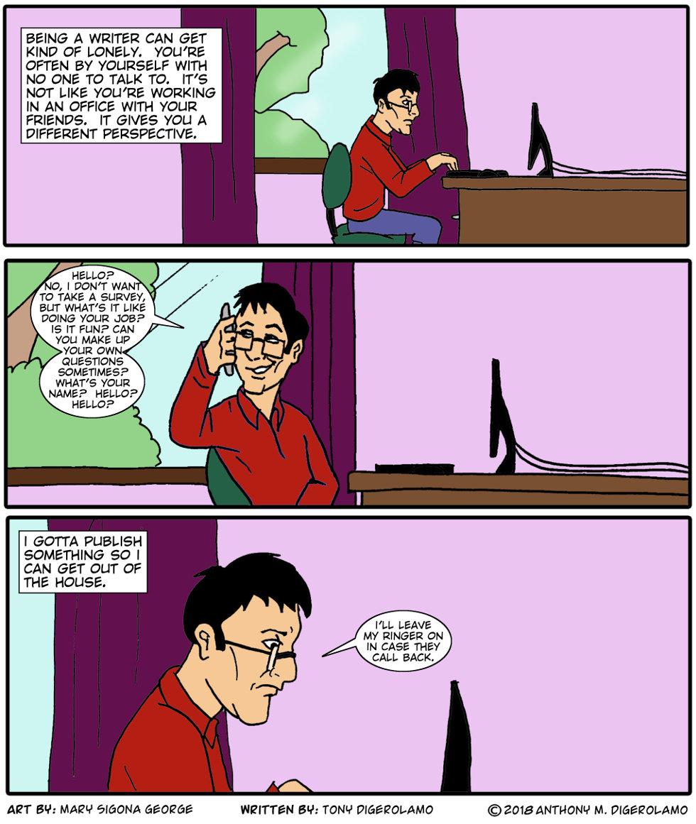 digital hobo:  Writer Alone