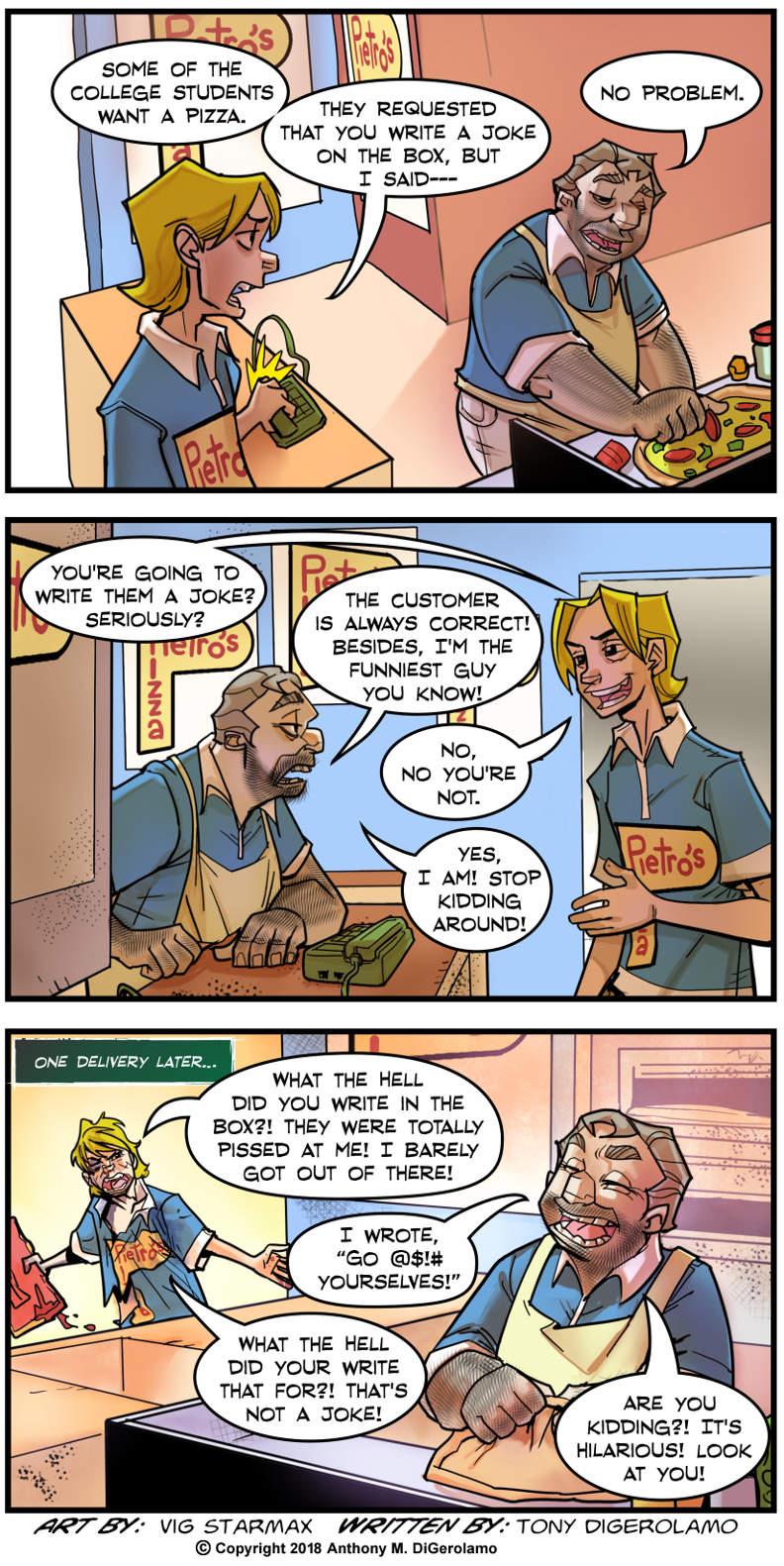 Tales of Pizza:  Joke in a Box