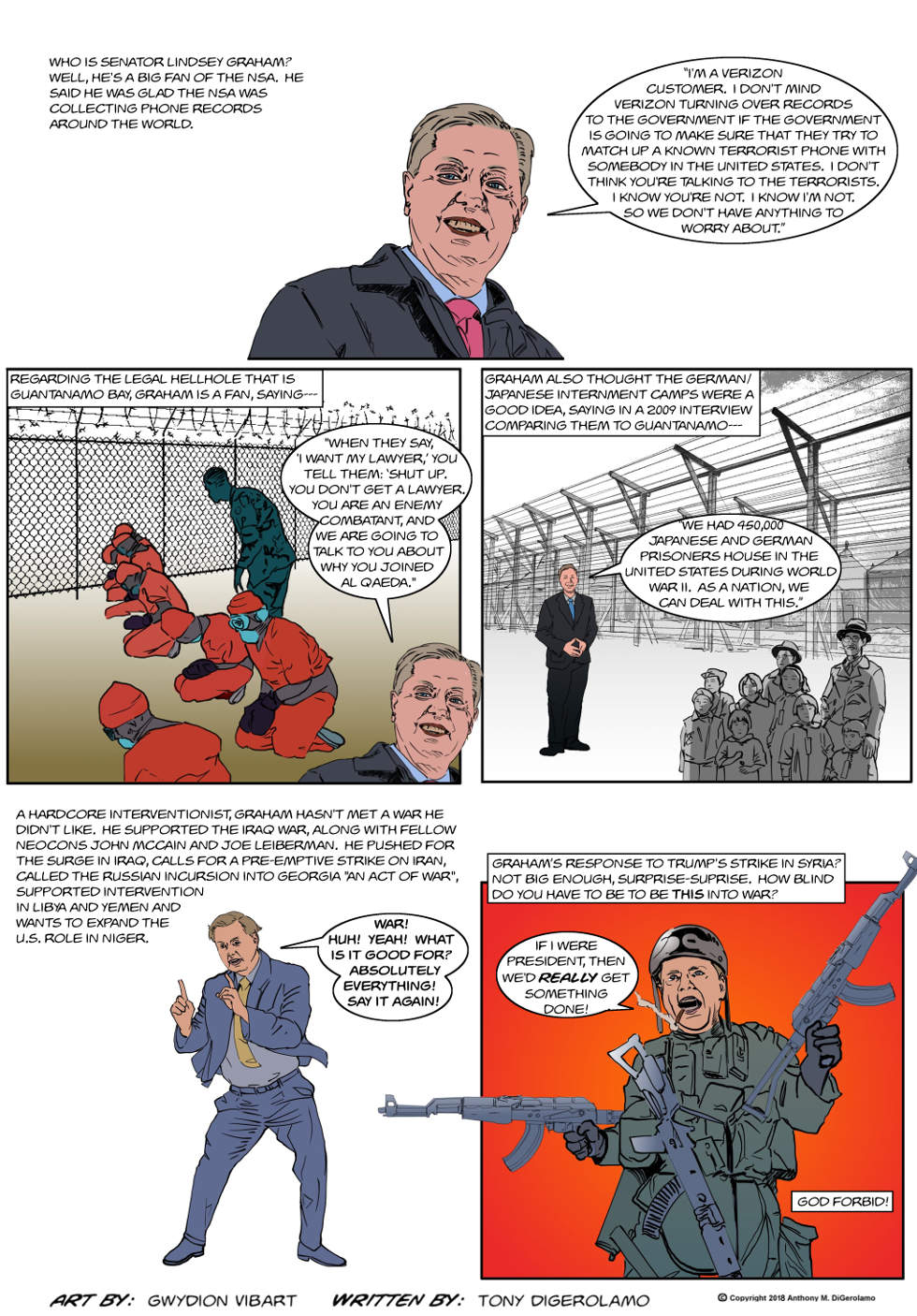 The Antiwar Comic:  Your War Senator