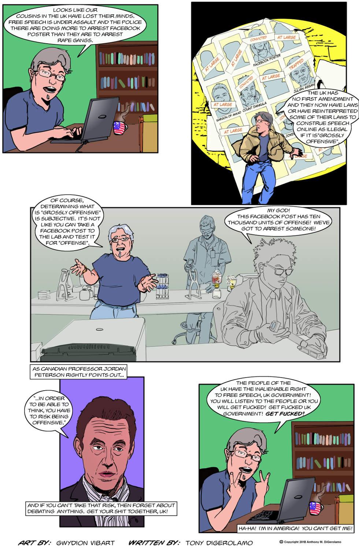 The Antiwar Comic:  Silence in the UK