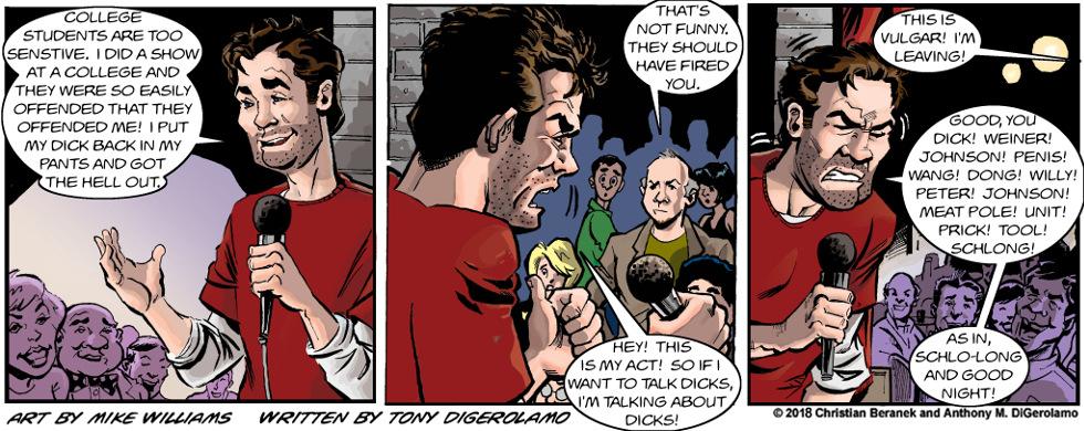 Miserable Comedians:  Don't Poke the Comic
