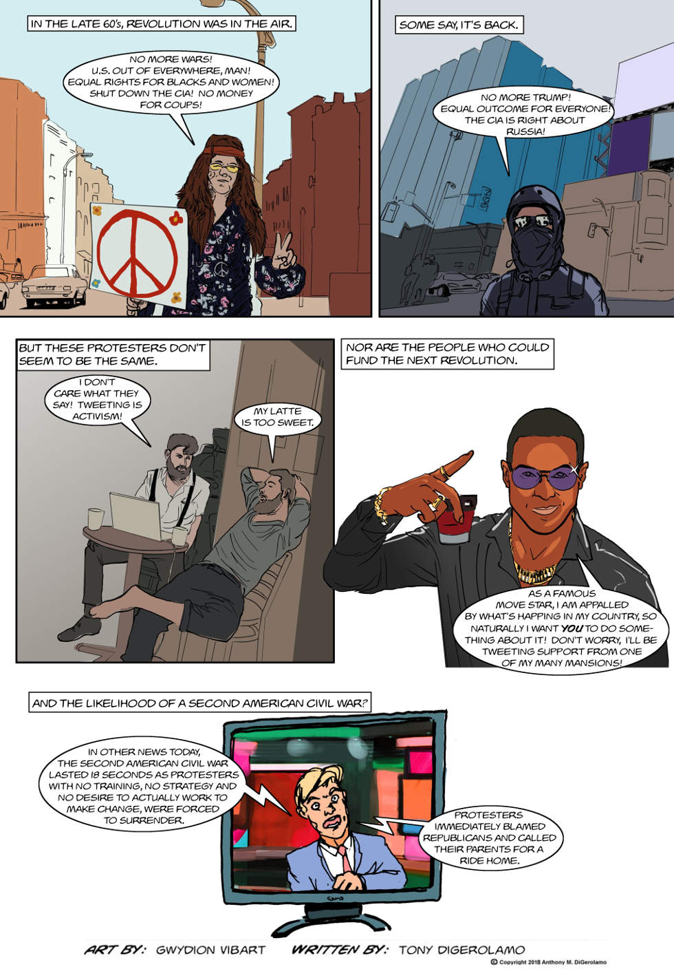 The Antiwar Comic:  Protesters Have Lost It