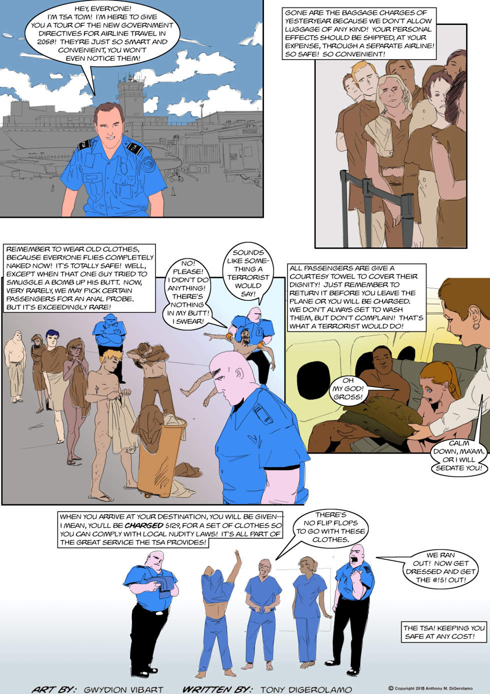 The Antiwar Comic:  TSA in 2058