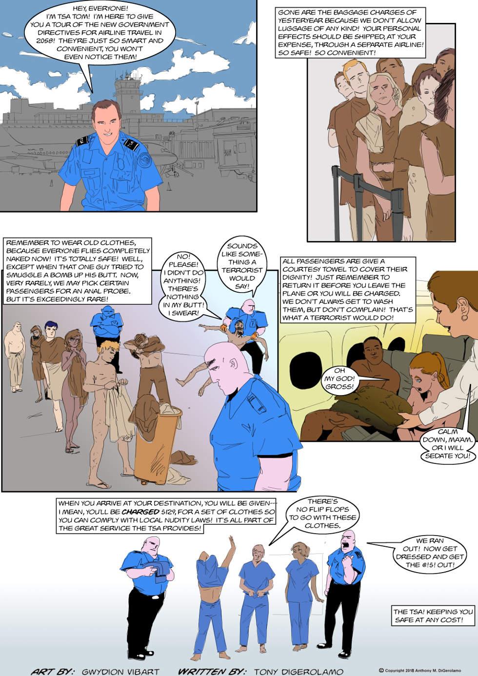 The Antiwar Comic:  TSA in 2058
