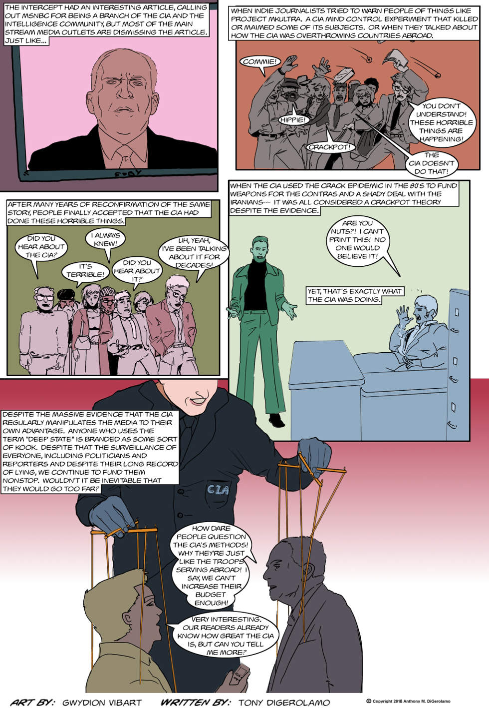 The Antiwar Comic:  Who Watches the Watcher Watchers?