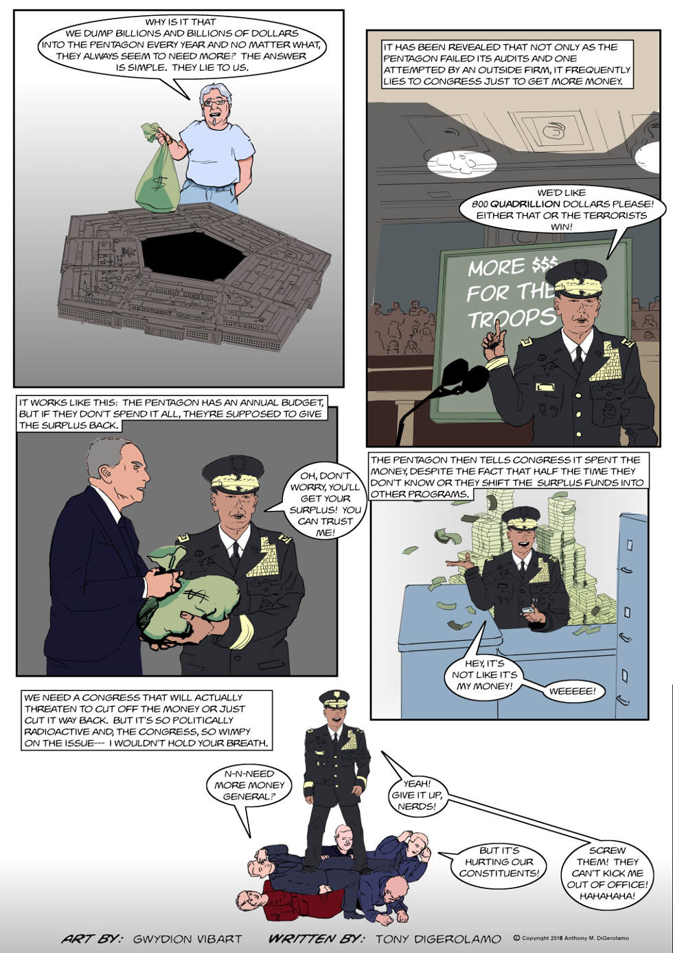 The Antiwar Comic:  The Military Lies