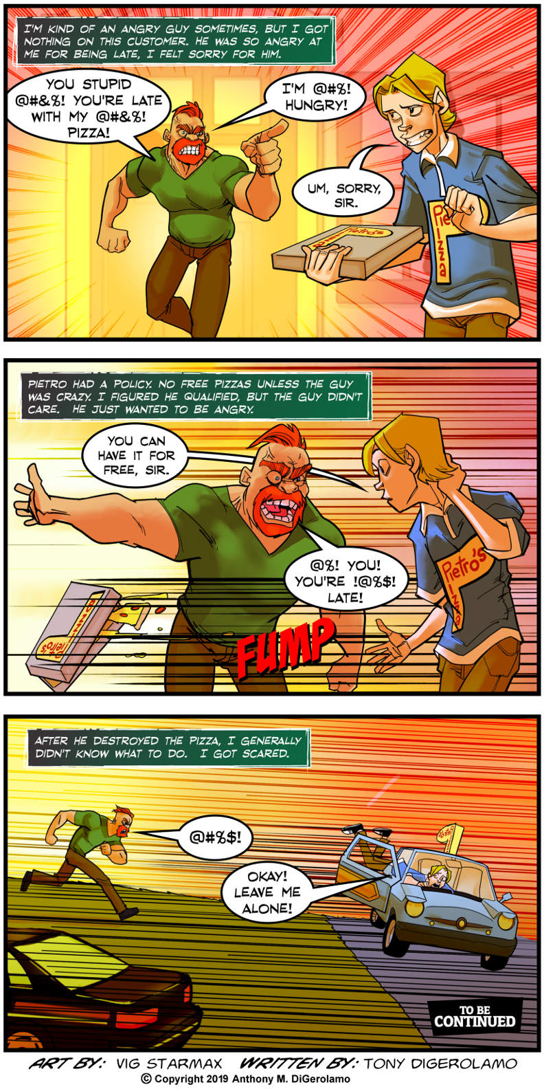 Tales of Pizza:  The Angriest Customer