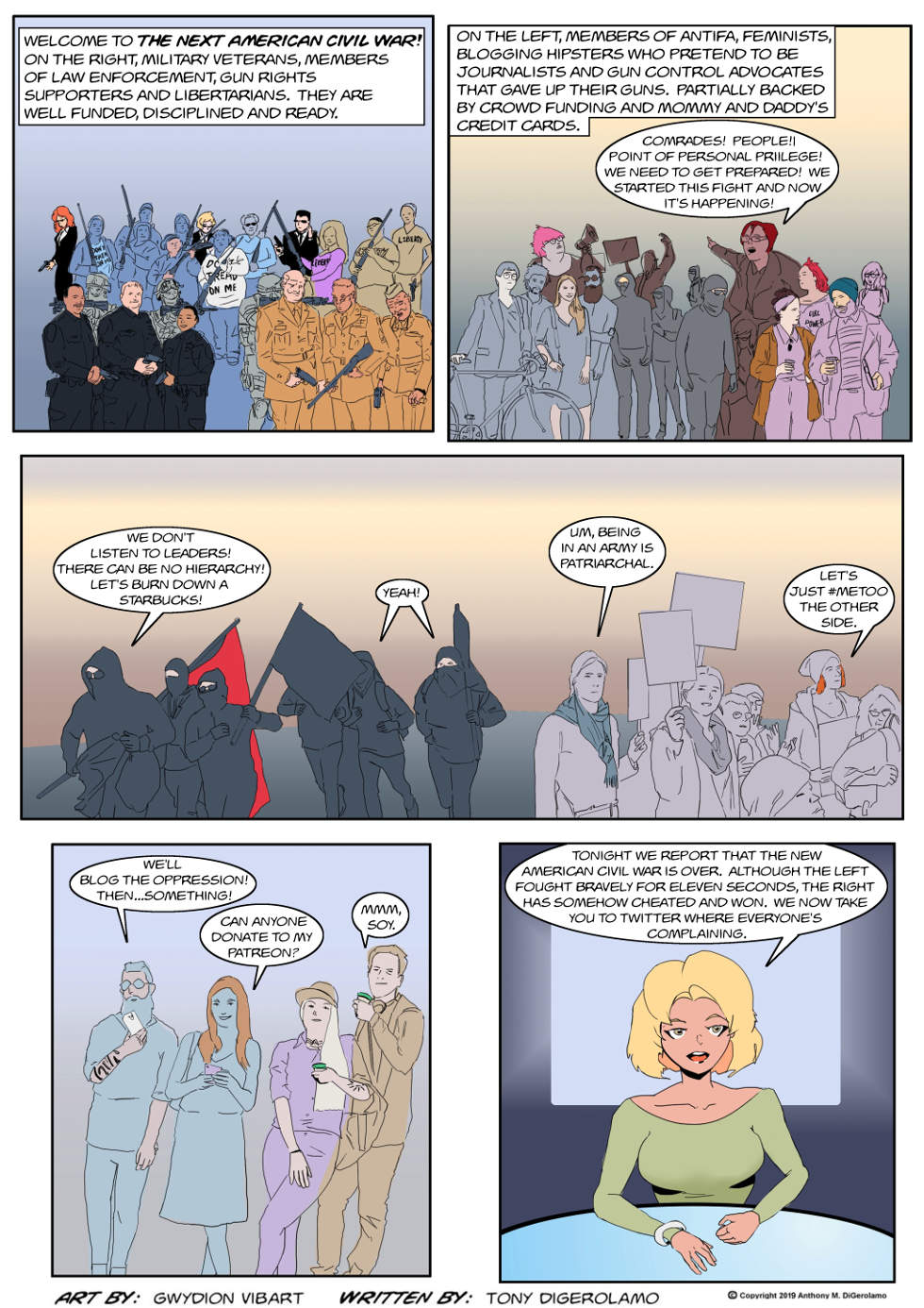 The Antiwar Comic:  The New American Civil War